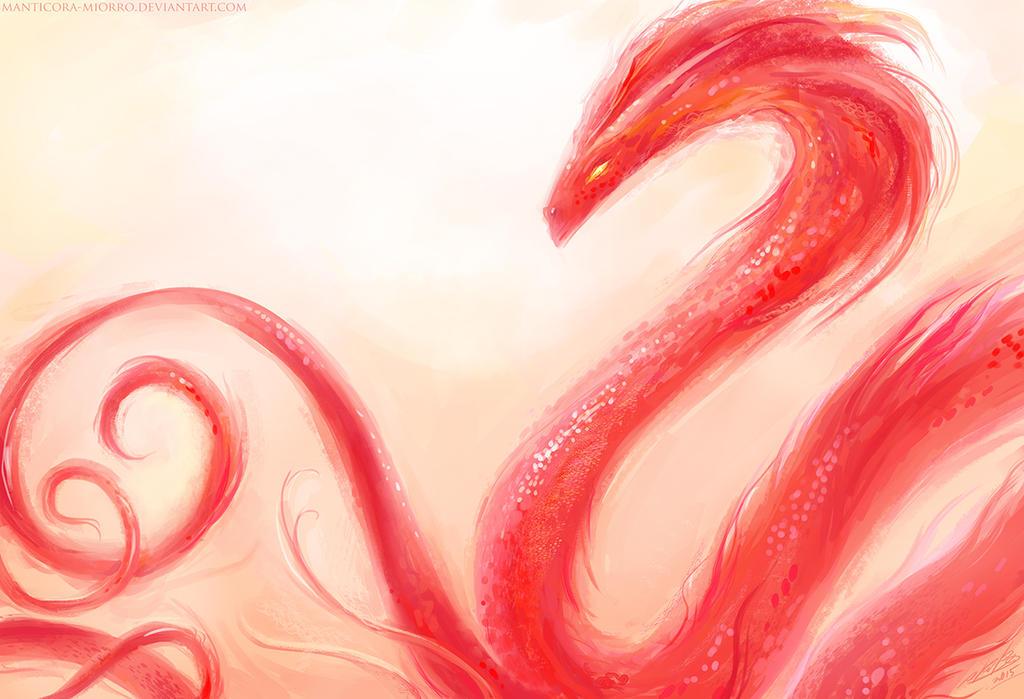 Red serpent by Manticora-Miorro