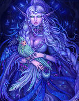 Elune be with you by Manticora-Miorro