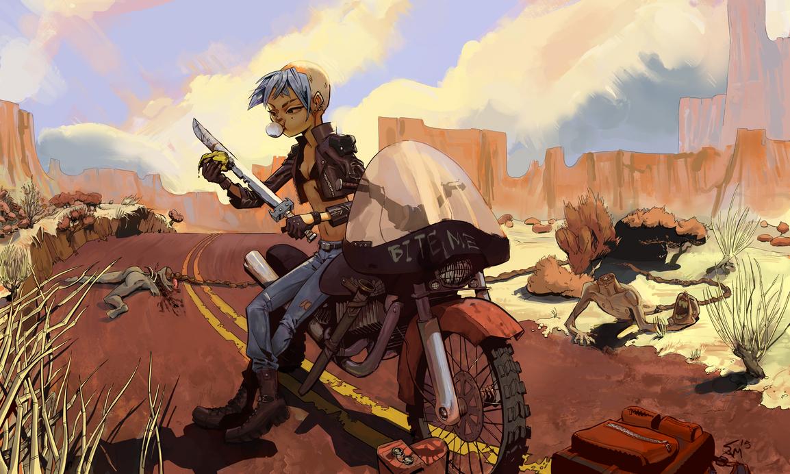 Biking by samszym