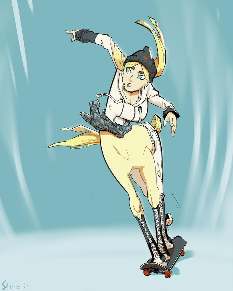 Centaur Skater by samszym