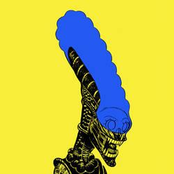 Marge and Xenomorph mashup-Xenomarge