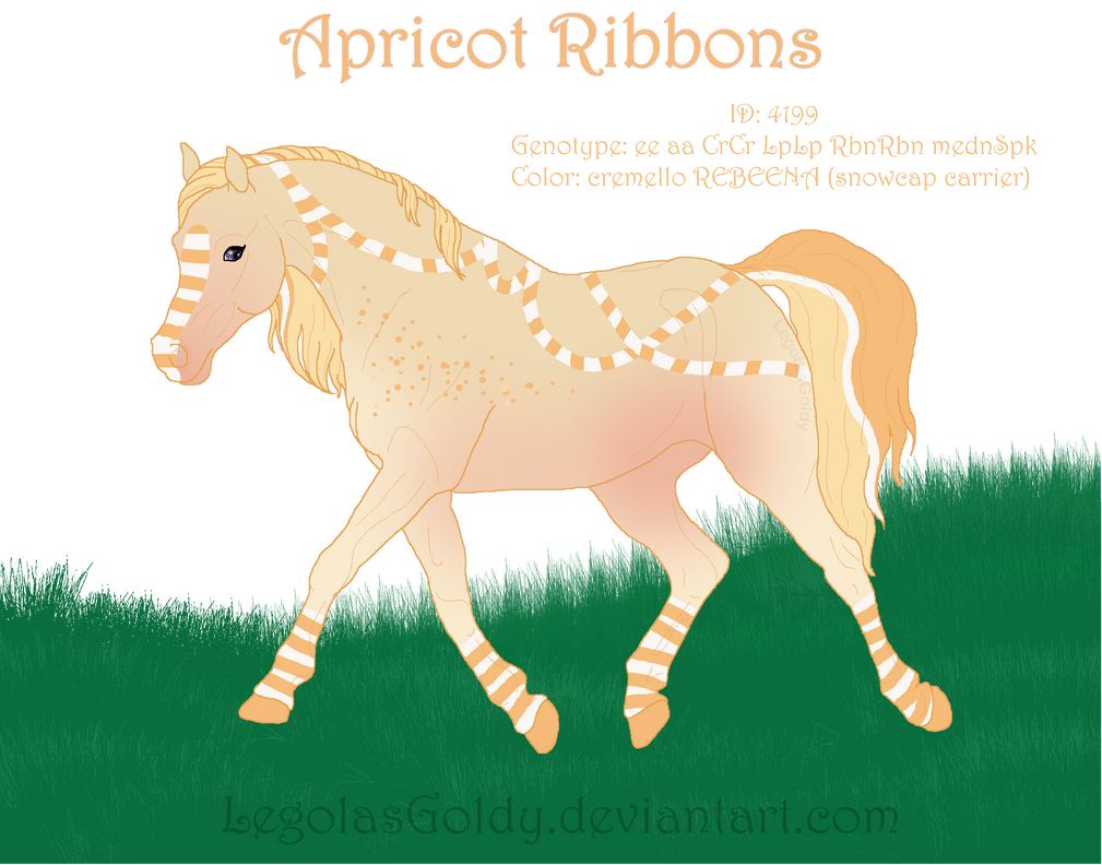 4199 Apricot Ribbons Reference by LegolasGoldy