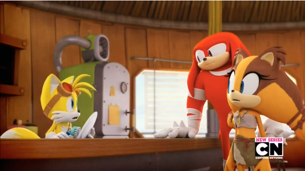 Sonic Boom Tv Series Tails Knuckles Sticks By