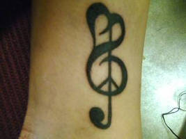 Peace Love and Music Tattoo by conversesrok16