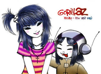 Gorillaz - Noodle:Now and past by mistycat