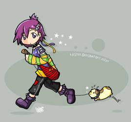 She has a hamster by HenarTorinos