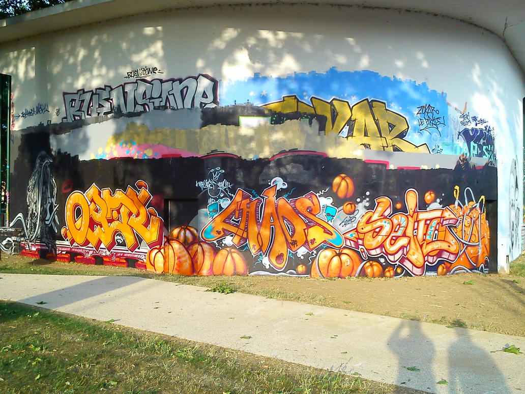 orange - Mural | Metz, France 2014 by nOon9