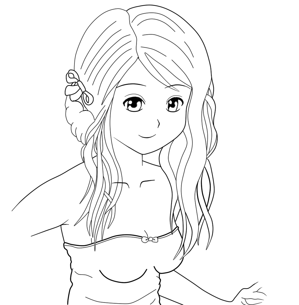 Line Drawing Female : Pencil to line art of female manga by tetsuo on deviantart