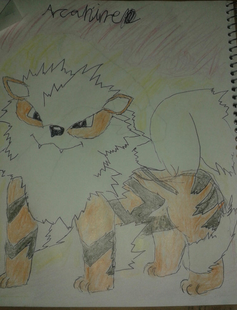 Simple Arcanine by Golden-nightdragon