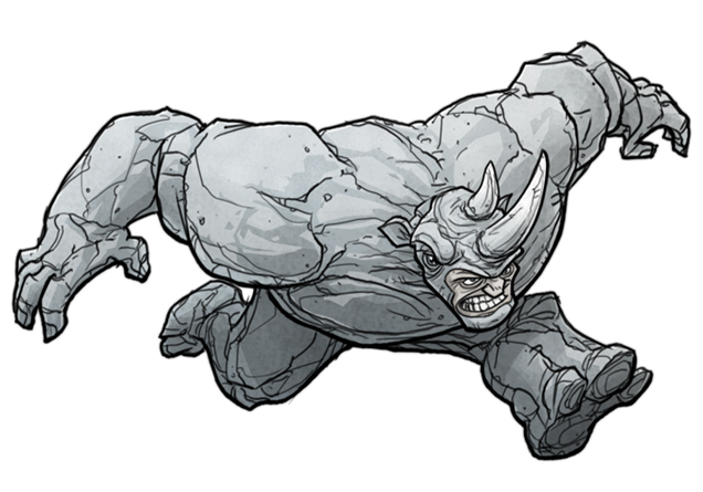 Coloring Pages For Spiderman : Rhino spiderman coloring pages murderthestout