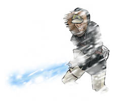 hoth han solo w lightsaber by DC-Miller