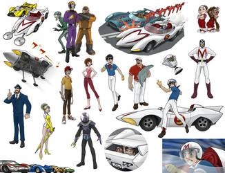 speed racer misc... by DC-Miller