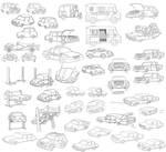 misc cartoon cars