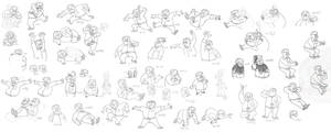 ray poses and expressions