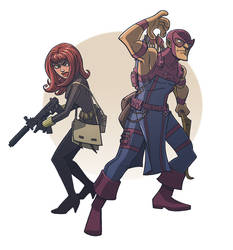 hawkeye and black widow by DC-Miller