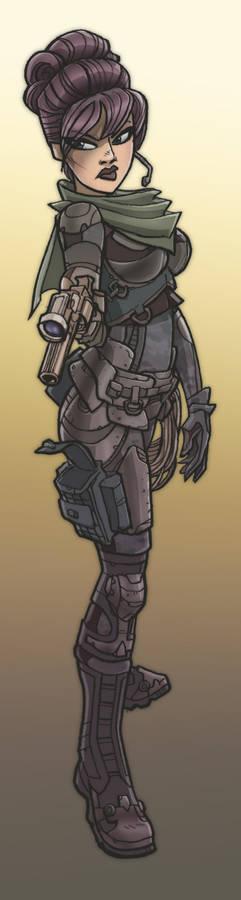 stylish future soldier girl?