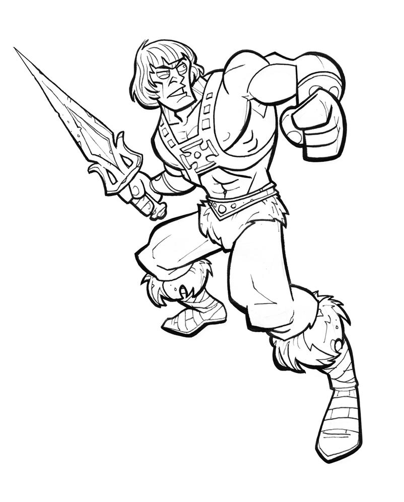 He man line by jimmymcwicked on deviantart for Masters of the universe coloring pages