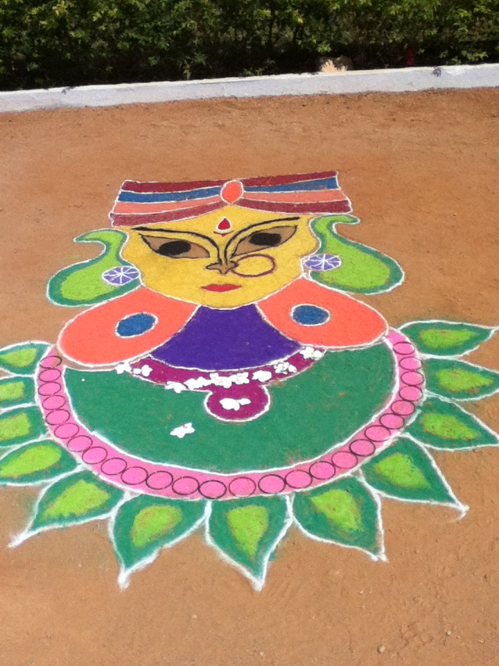 My Rangoli in my College by keerthijambavathi