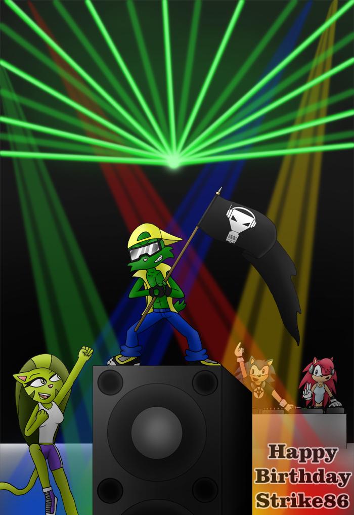 Happy BDay Strike86 by ChiptheHedgehog