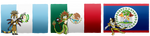 My OCs in their countries Guatemala-Mexico-Belize by ChiptheHedgehog