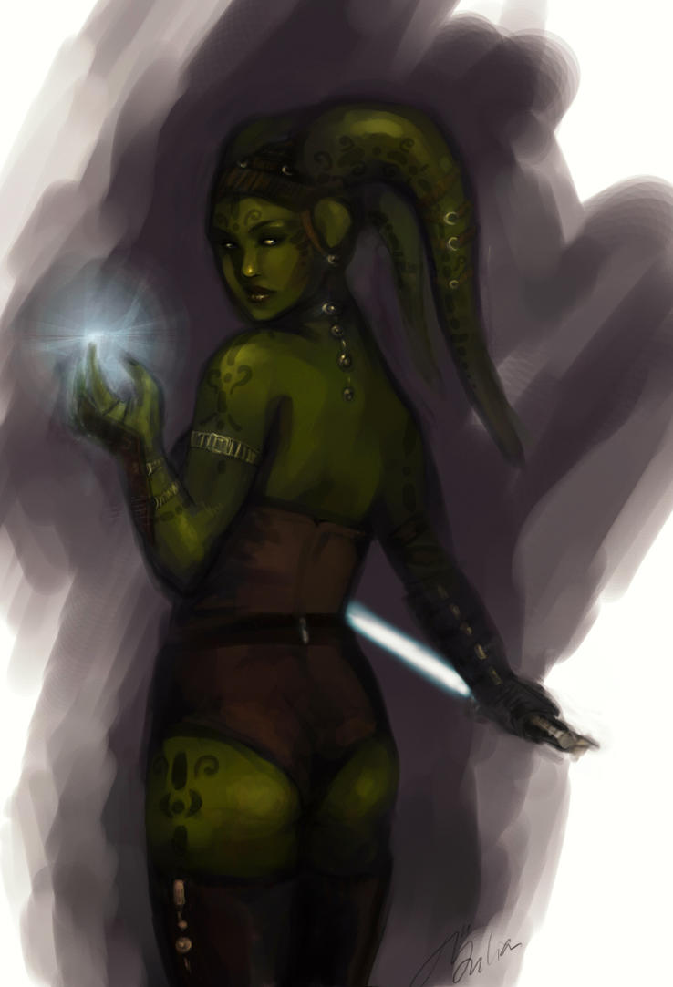 Twilek Jedi by DancinFox