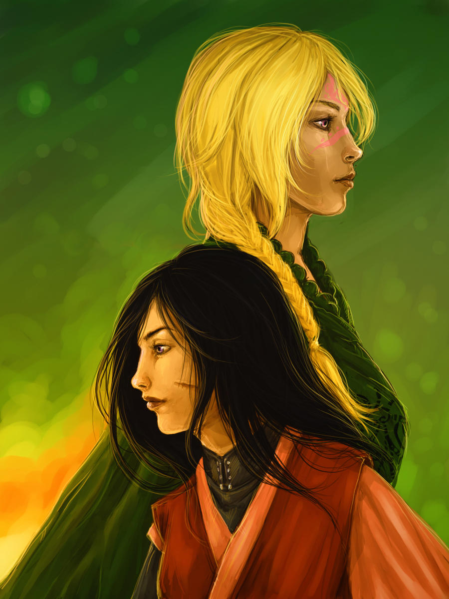 Art Trade: Ashni and Romina by DancinFox