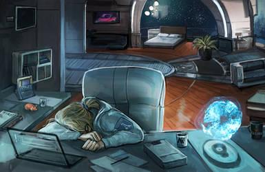 Tempest's Lazy Day - Pathfinder by DancinFox