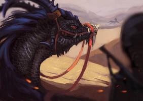 Desert Dragon Rider by Summer-Lynx