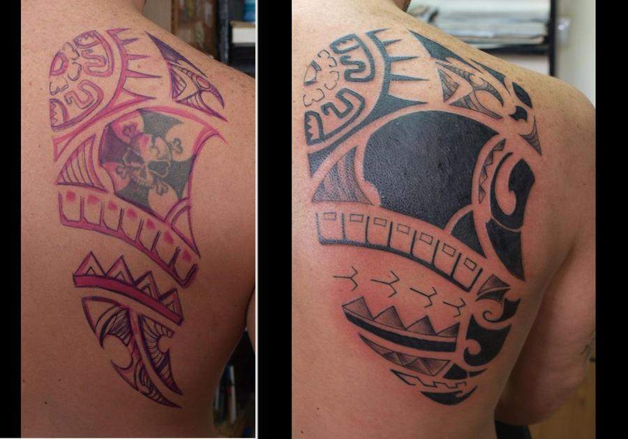 Maori Tattoo Cover Up