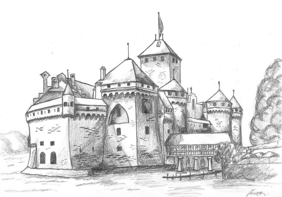 Chateau De Chillon By Isil22 On Deviantart