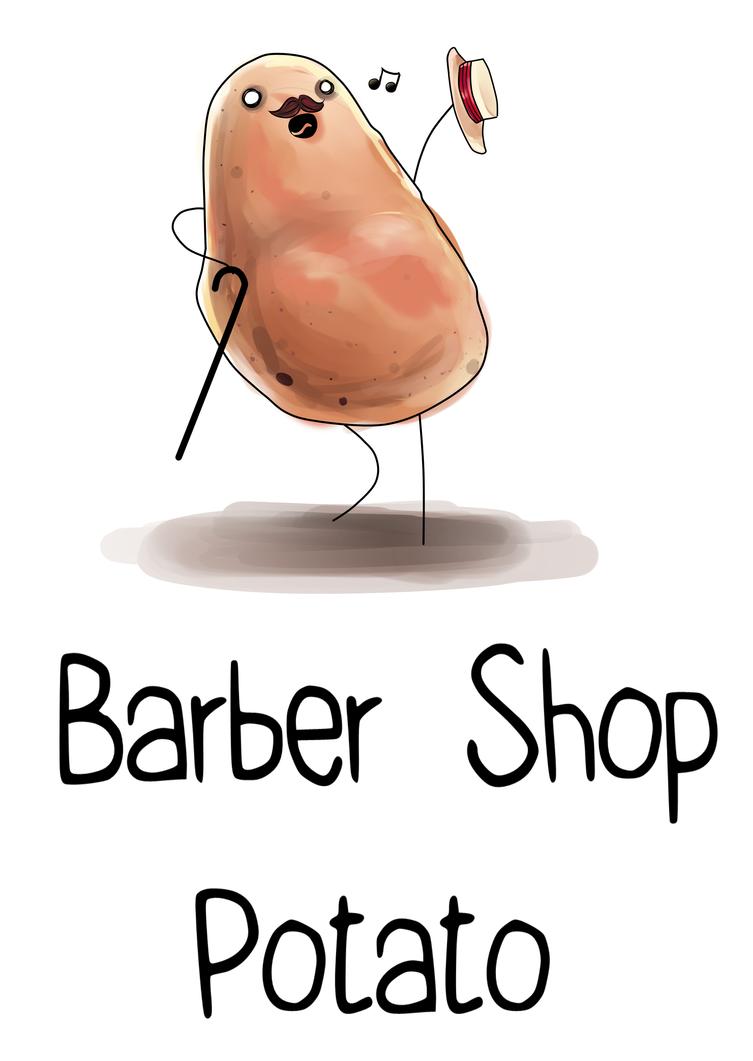 Barber Shop Potato by Kiakogeoscch