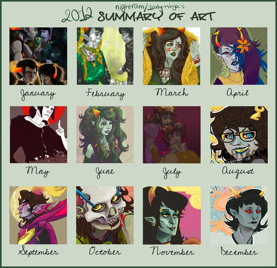 2012 Summary of Art by 1arty-ninja