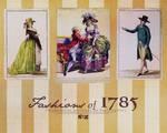 Fashions of 1785 wallpaper