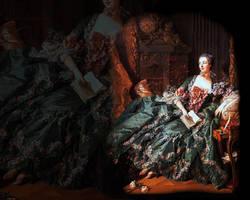 Madame de Pompadour : teal by olde-fashioned
