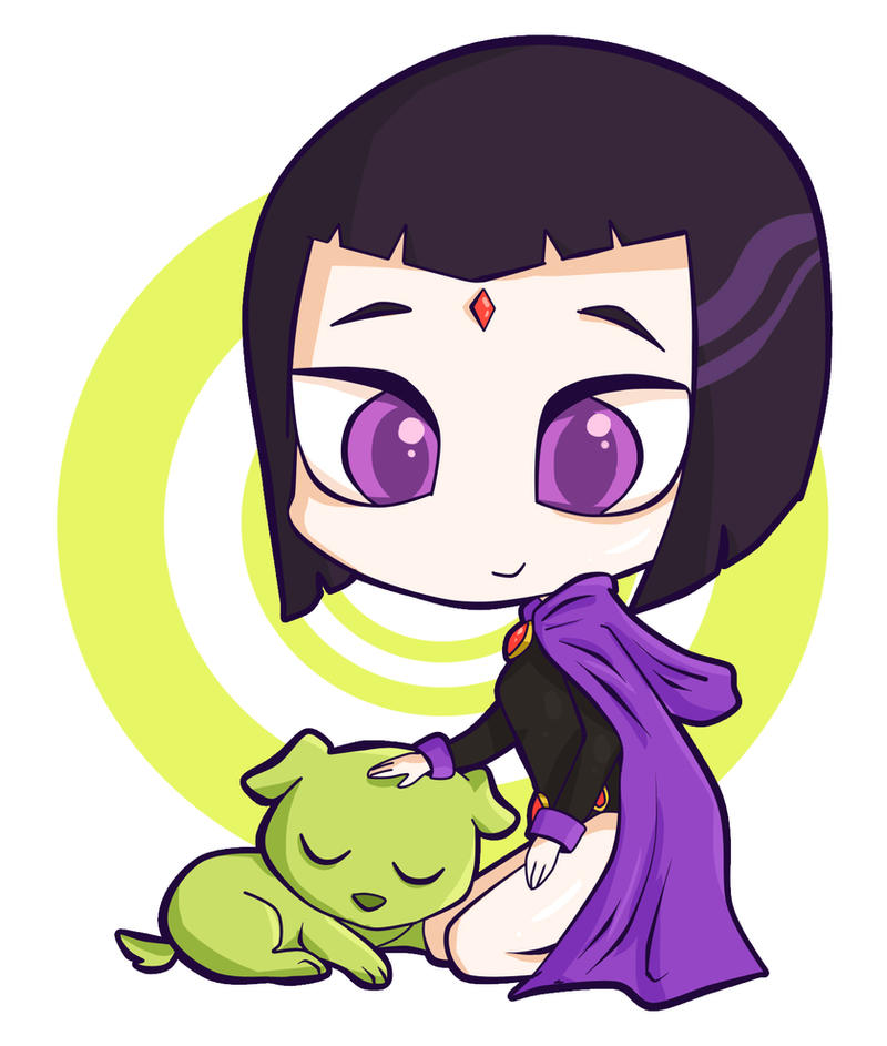 Raven and Beast Boy by franflipay