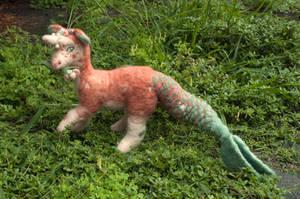 Felt Plush Dragon - Pearl