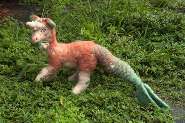 Felt Plush Dragon - Pearl by Maresy