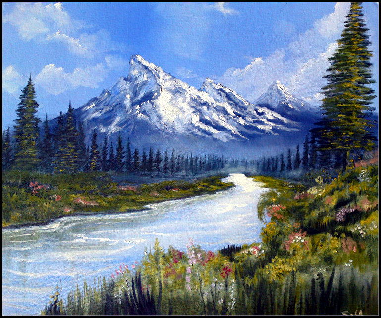 Mountain river picture