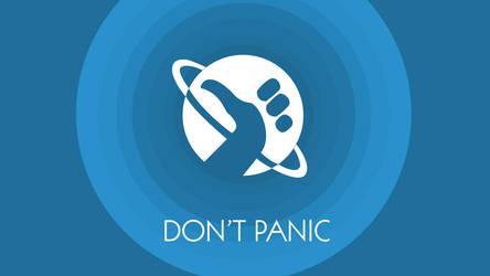 Don't Panic Wallpaper by Vantaj