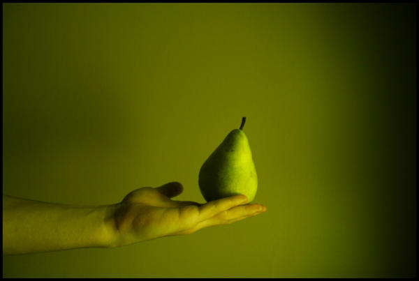 a pear by kilroyhasbeenhere
