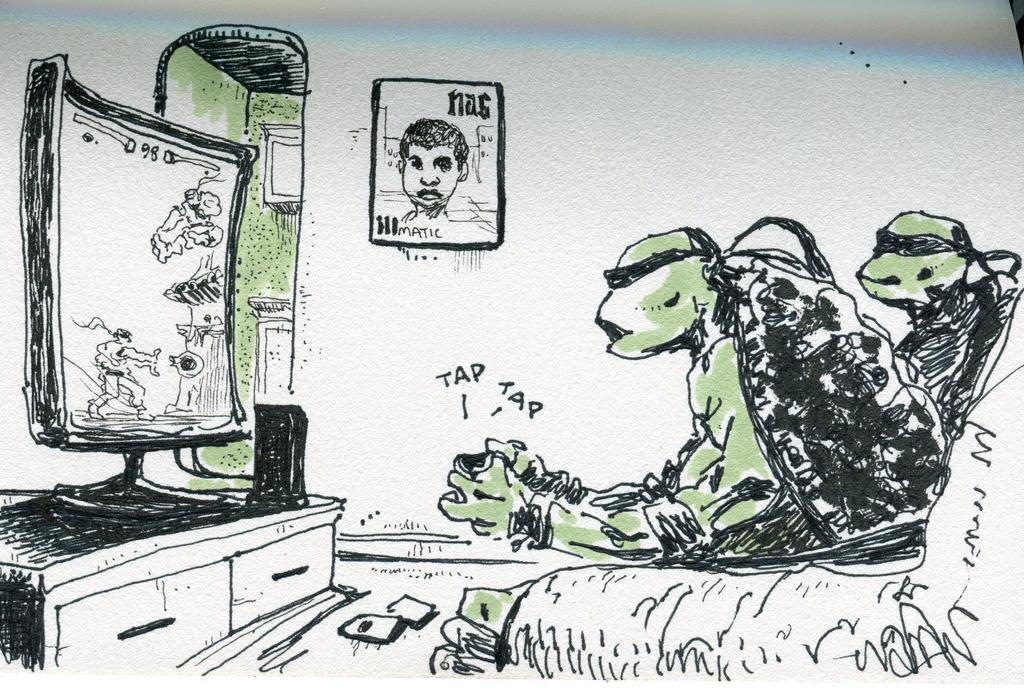 ninja turtle comic by graffittifunk