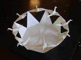 8 Flying Cranes