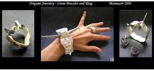 Origami jeweleryCranes by MannaOri