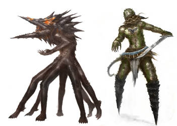 creature concepts 1 by ConceptMike