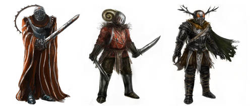 Fantasy character concepts by ConceptMike