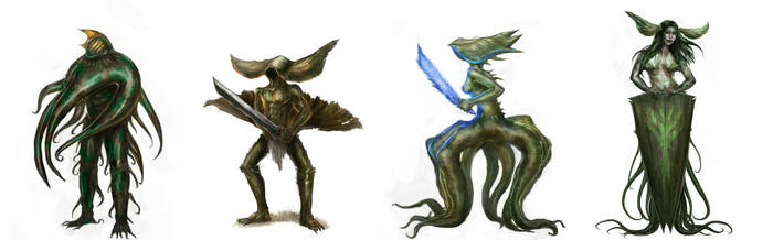 Creatures of the plant kingdom by ConceptMike