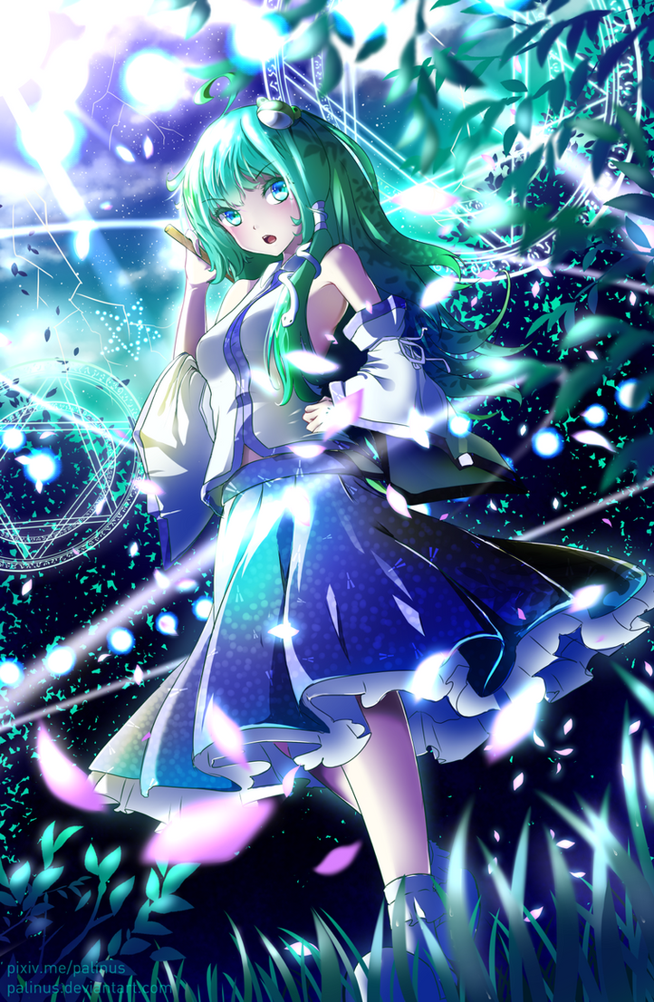 kochiya sanae by palinus on deviantart