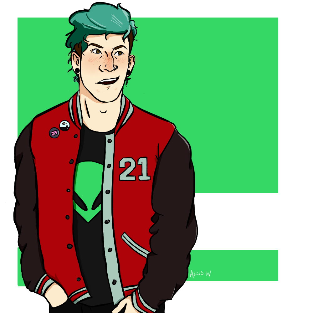 I Just Wanted To Draw Josh In A Varsity Jacket By Folieadork