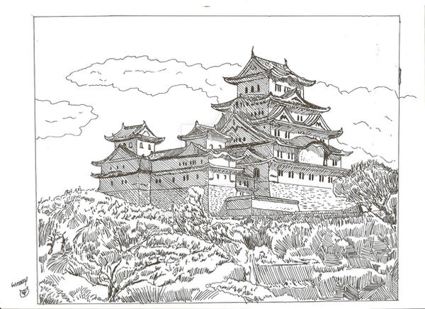 Himeji Castle by megalobo