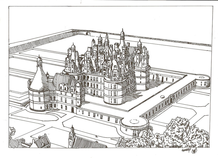 The Royal Chateau de Chambord by megalobo on DeviantArt